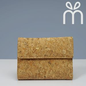 EcoQuote Tri Fold In Wallet Handmade Eco-Friendly Cork Material Great For Vegan, Sustainable & Environment Concious Friends