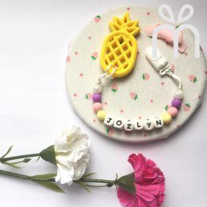 Personalized Teething Set | Pineapple Series
