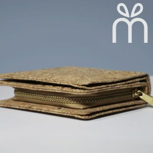 EcoQuote Square Bi Fold Wallet Handmade Cork Material Eco-Freindly, Sustainable & Great for Vegan, Environment Concious Friends