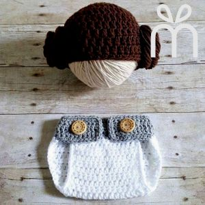 Handmade Crochet Baby Diaper Set