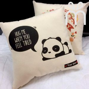 Cute Panda Square Pillow