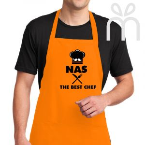 """Customized Apron """" The Best Chef """""""