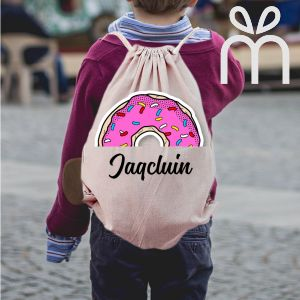 Personalized Doughnut Draw String Bag