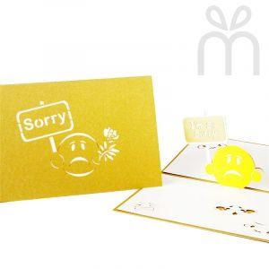 Handmade 3D Greeting Card - I'm So Sorry