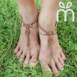 Macrame Barefoot Sandals  (Pair)【RA01-P】