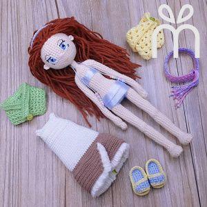 Handmade Crochet Choco Doll