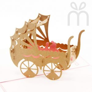 Handmade 3D Greeting Card - Congratulations For Your Baby