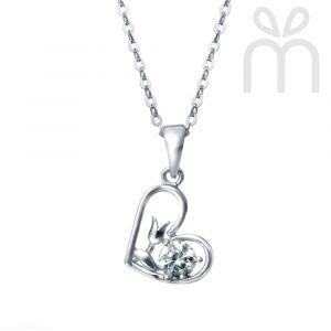 Kelvin Gems Premium Flower Heart Pendant Necklace