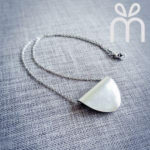 Handmade Folded Spoon Necklace