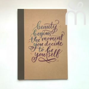Custom Calligraphy Notebook (Tape)