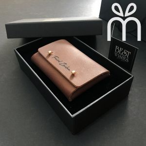 Personalised Leather Business Card Holder (Straight Flap)