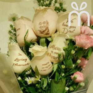 Personalized Fresh Roses