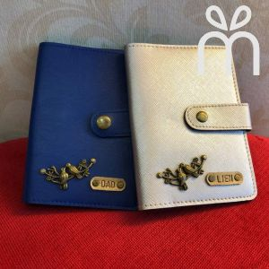 Personalized Couple Passport Cover with Clip