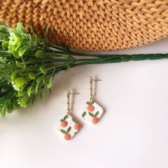 Mandarin Orange Clay Earrings