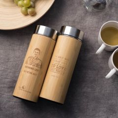 Bamboo (Wood-like) Thermal Flask