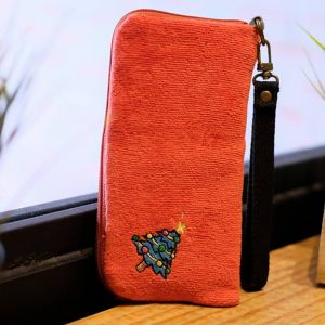 Classic Christmas Tree Phone Pouch