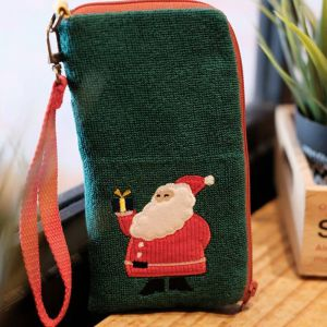 Classic Christmas Santa Phone Pouch
