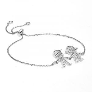 Luna Couple Adjustable Chain Bracelet
