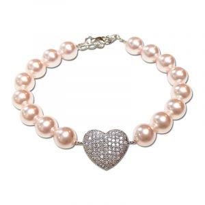 Adore Pink Swarovski Pearl Bracelet