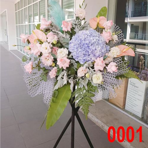 Opening Flower - Fresh Flower Modern Stand #0005