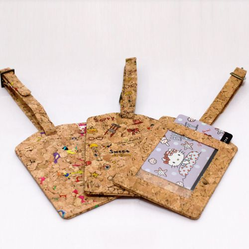 EcoQuote Luggage Tag Unique Handmade Eco-Friendly & Sustainable Cork Material Great for Vegan