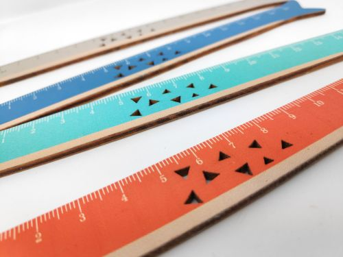 Colourful Fish Wood Ruler + FREE ENGRAVING