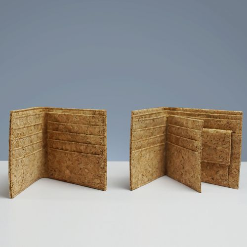 EcoQuote Bi Fold Wallet with Coins Pocket Handmade Eco-Friendly Cork Material, Sustainable & Great For Vegan, Environment Concious Friends