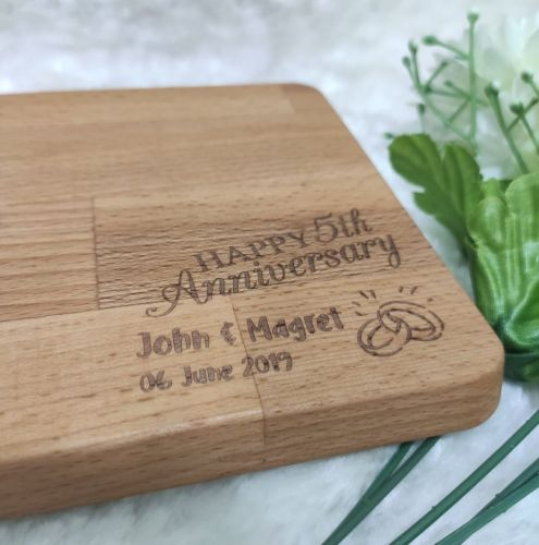 Personalized Beech Wood Cutting Board with FREE NAME ENGRAVING