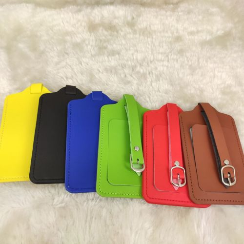 PU Leather Luggage Travel Tag with FREE NAME ENGRAVING