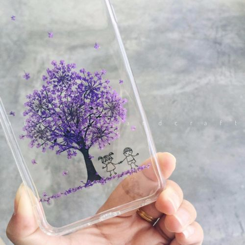 Hand Pressed Dried Flower Tree Phone Case
