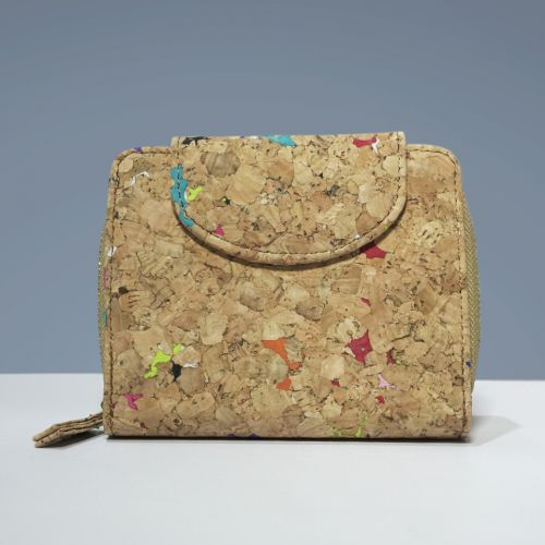 EcoQuote Medium Compact Wallet Handmade Cork Material Eco Friendly, Sustainable & Great for Vegan