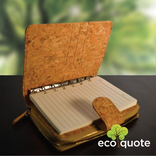 EcoQuote Notebook Deluxe Handmade Cork Eco Friendly & Sustainable Material Great For Vegan