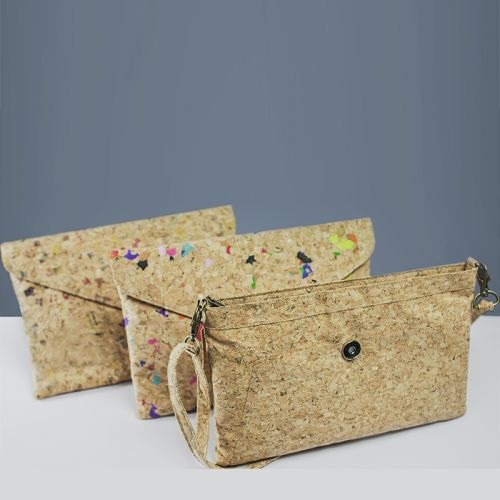 EcoQuote Envelope Design Sling Bag Handmade Eco-Friendly Cork Material, Sustinable & Great for Vegan