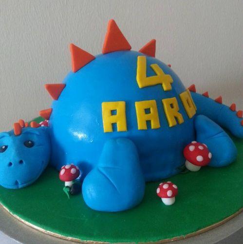 Dino Theme Fondant Cake