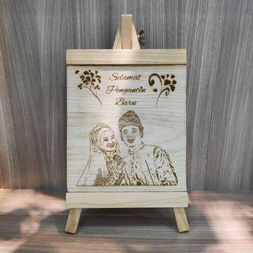 Wood Photo Frame + FREE ENGRAVING