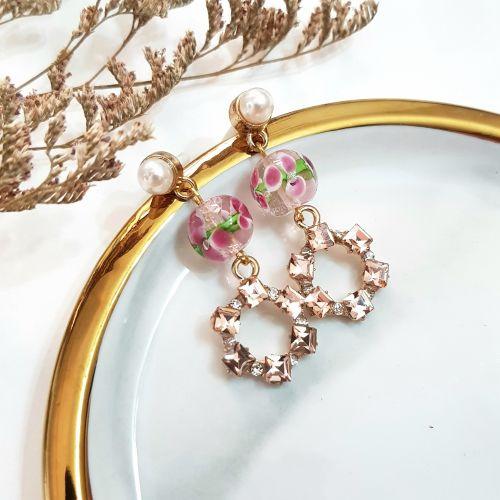Pink ~ Flower Series Earring