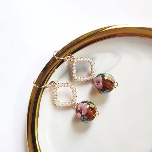 Coffee ~ Flower Series Earring
