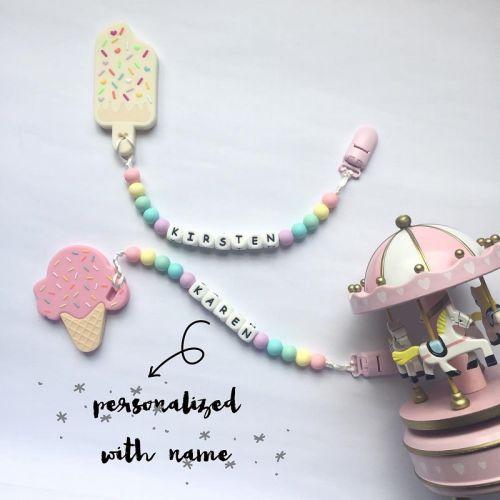 Personalized Teething Set | Ice Cream Series