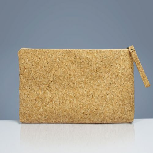 EcoQuote 13 inch Laptop Pouch Sleeve Handmade Cork Eco-Friendly Material, Sustainable & Great For Vegan