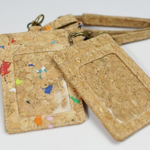 EcoQuote Lanyard with Badge Holder Handmade Cork Material Eco-Friendly