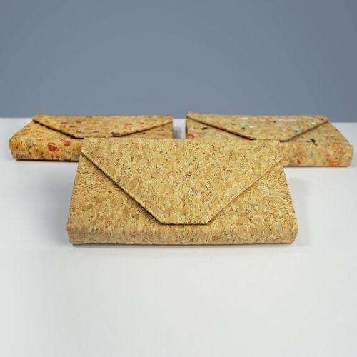 EcoQuote Envelope Sling Bag Handmade Cork Material Eco-Friendly