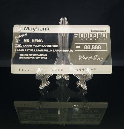 Mockup Cheque
