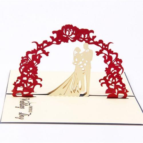 Handmade 3D Greeting Card - Wedding Day