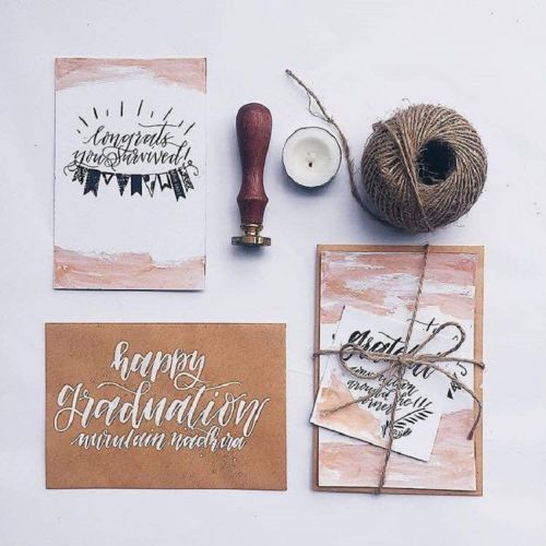 Custom Calligraphy Card with Envelope