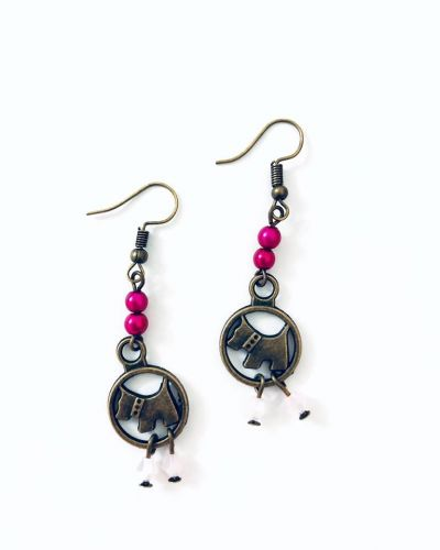 The Puppies Earrings (2 Colours Available)