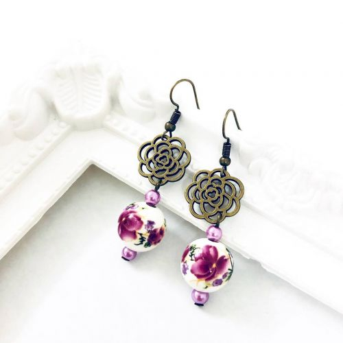 Floral Oriental Earrings (7 Designs Available)