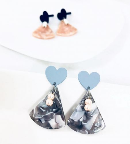 Marble Acrylic Earrings (2 Colours Available)