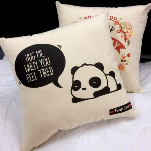 Cute Panda Square Pillow