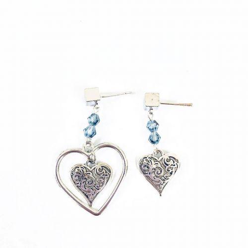 Geometry Heart Earrings