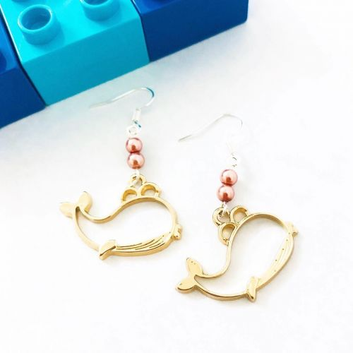 Whale Earrings (2 Designs Available)